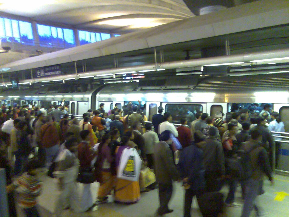 Lines at the Metro station