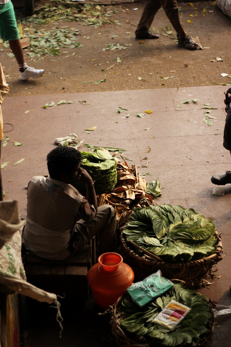 Betel leaves seller